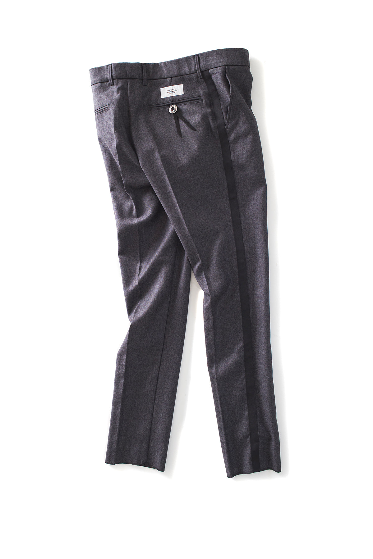 THE EDITOR : Line Trouser (Charcoal x Black Line)
