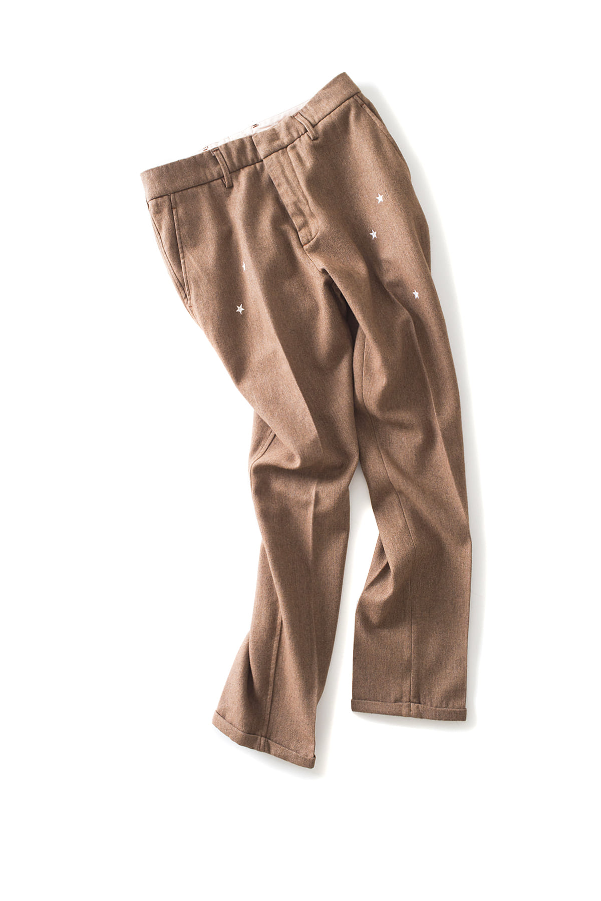 THE EDITOR : Star Embroidered Trouser (Brown)