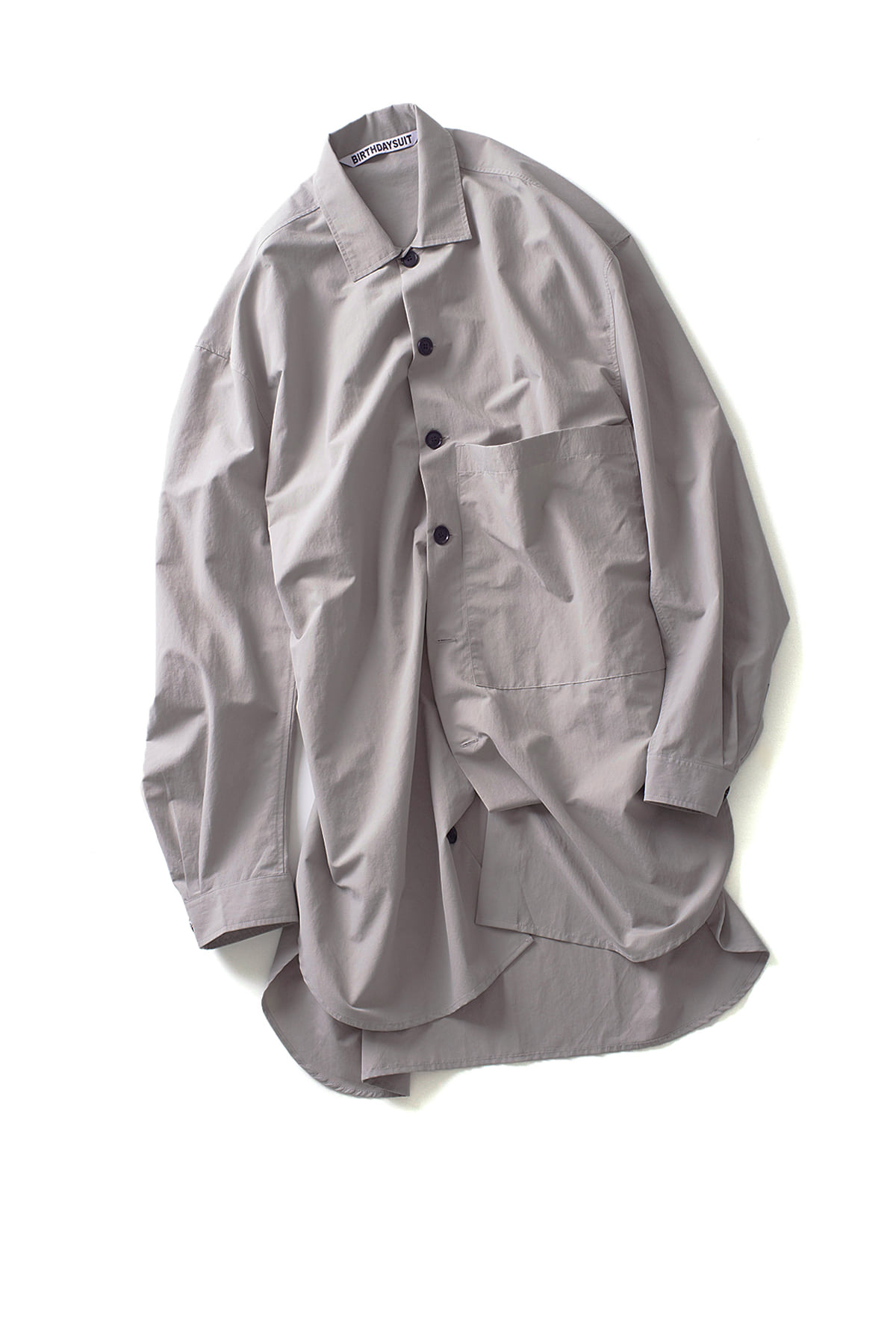 BIRTHDAYSUIT : Oversized Shirt Coat (Light Grey)