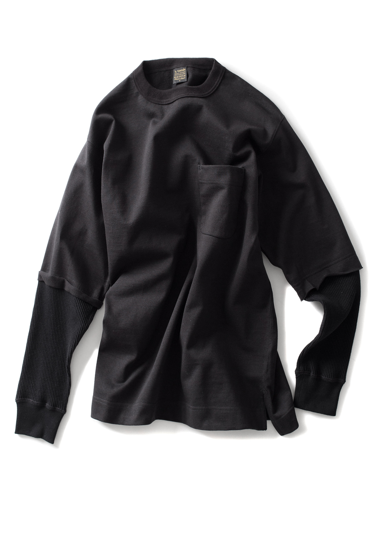 A vontade : Fake Layer Crew Top (Black)
