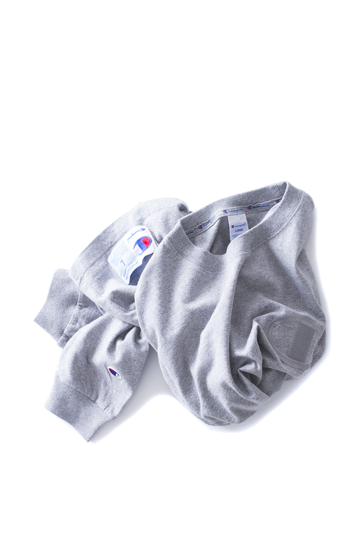 Champion : Action Style Big Logo Long Sleeve T-Shirt (Oxford Gray)