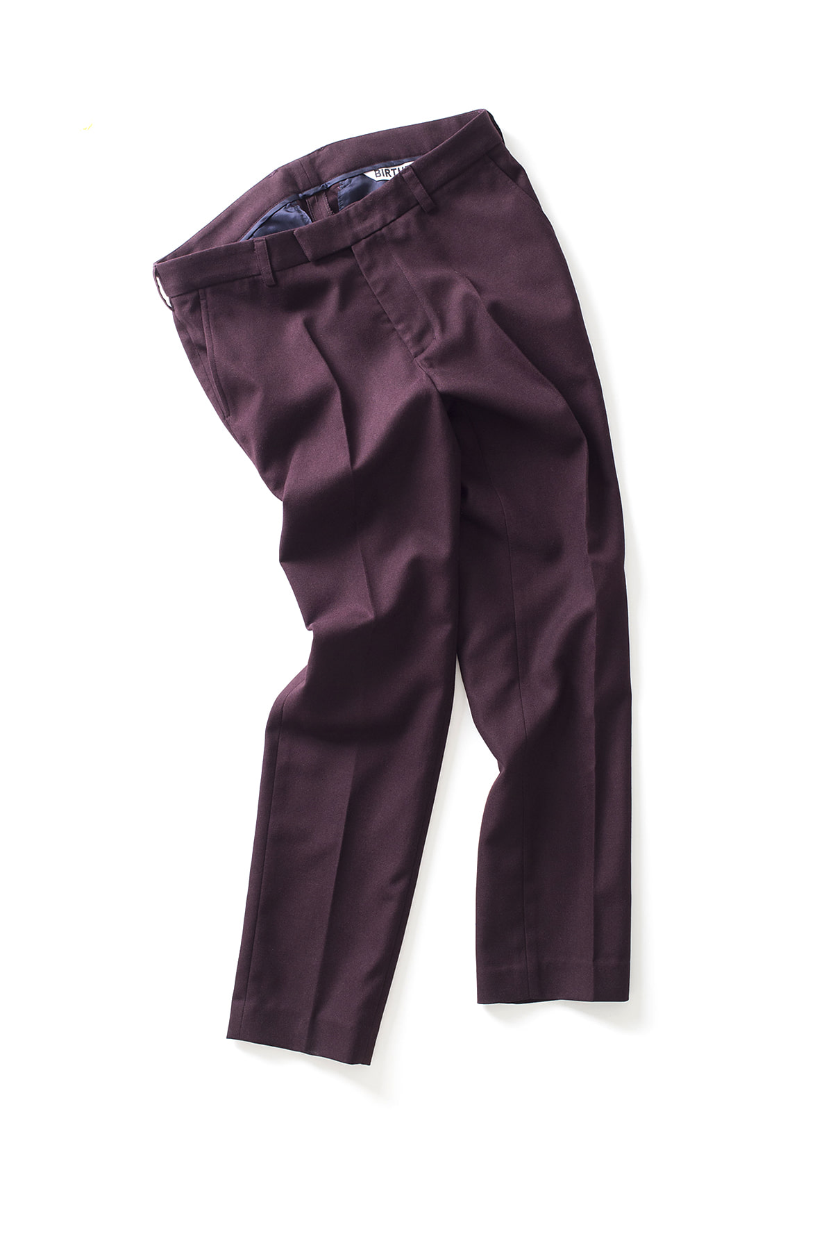 BIRTHDAYSUIT : Daily Suit Trouser (Burgundy)