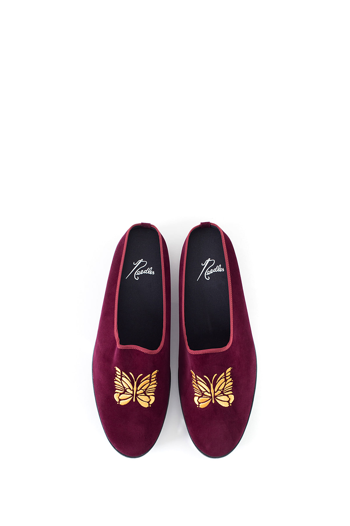 NEEDLES : Papillon Emb. Velveteen Mule (Bordeaux)