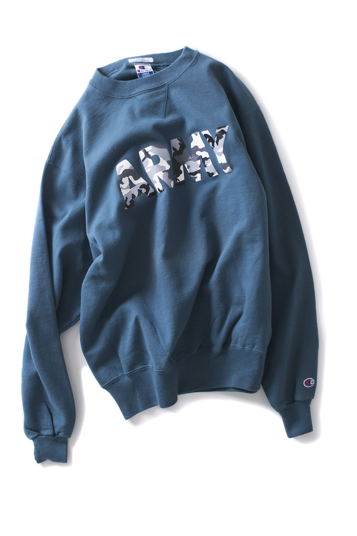 Copy Cat : Champ Crew Neck (Blue Green x Grey Military)