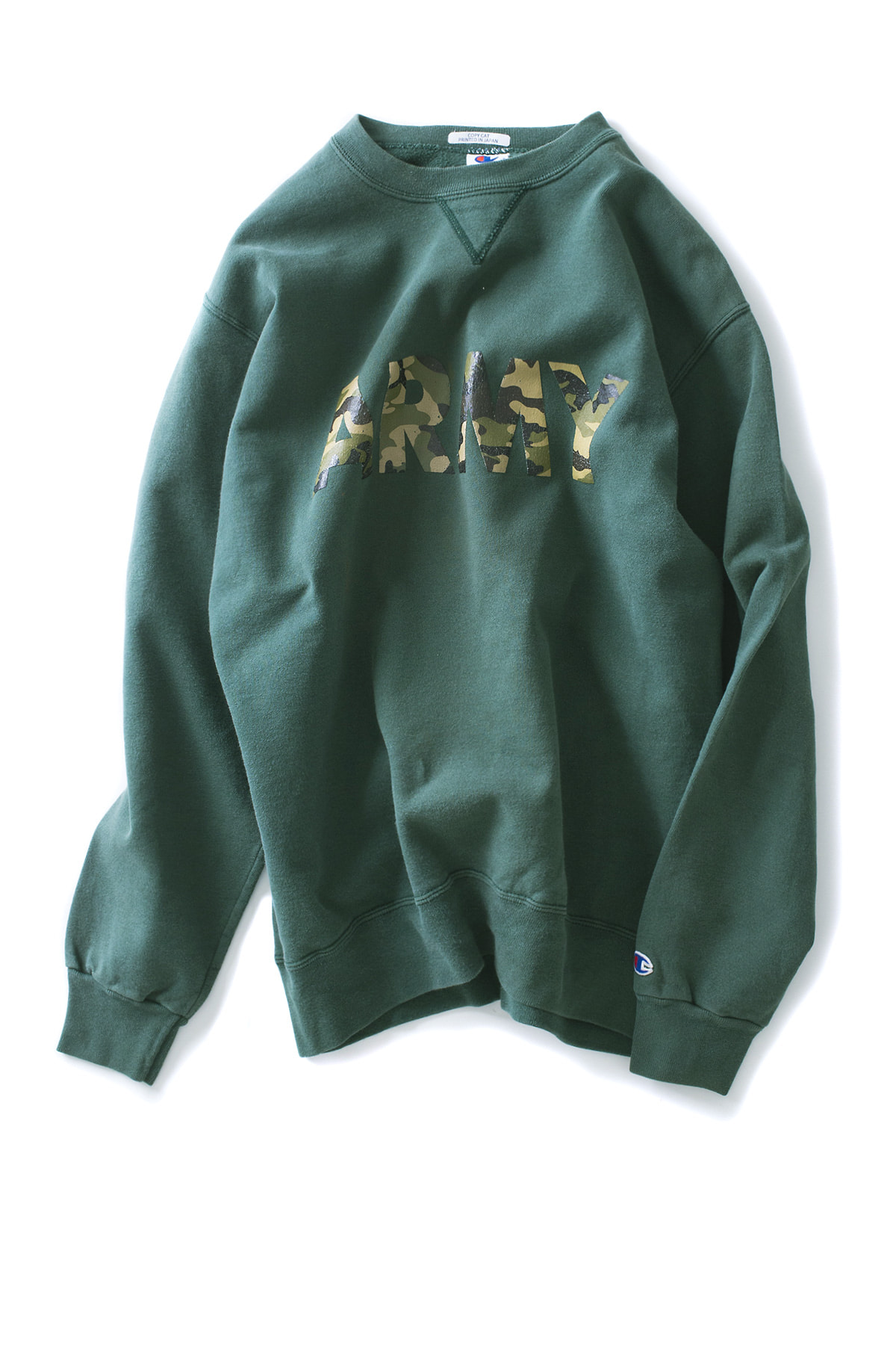 Copy Cat : Champ Crew Neck (Green x Military)