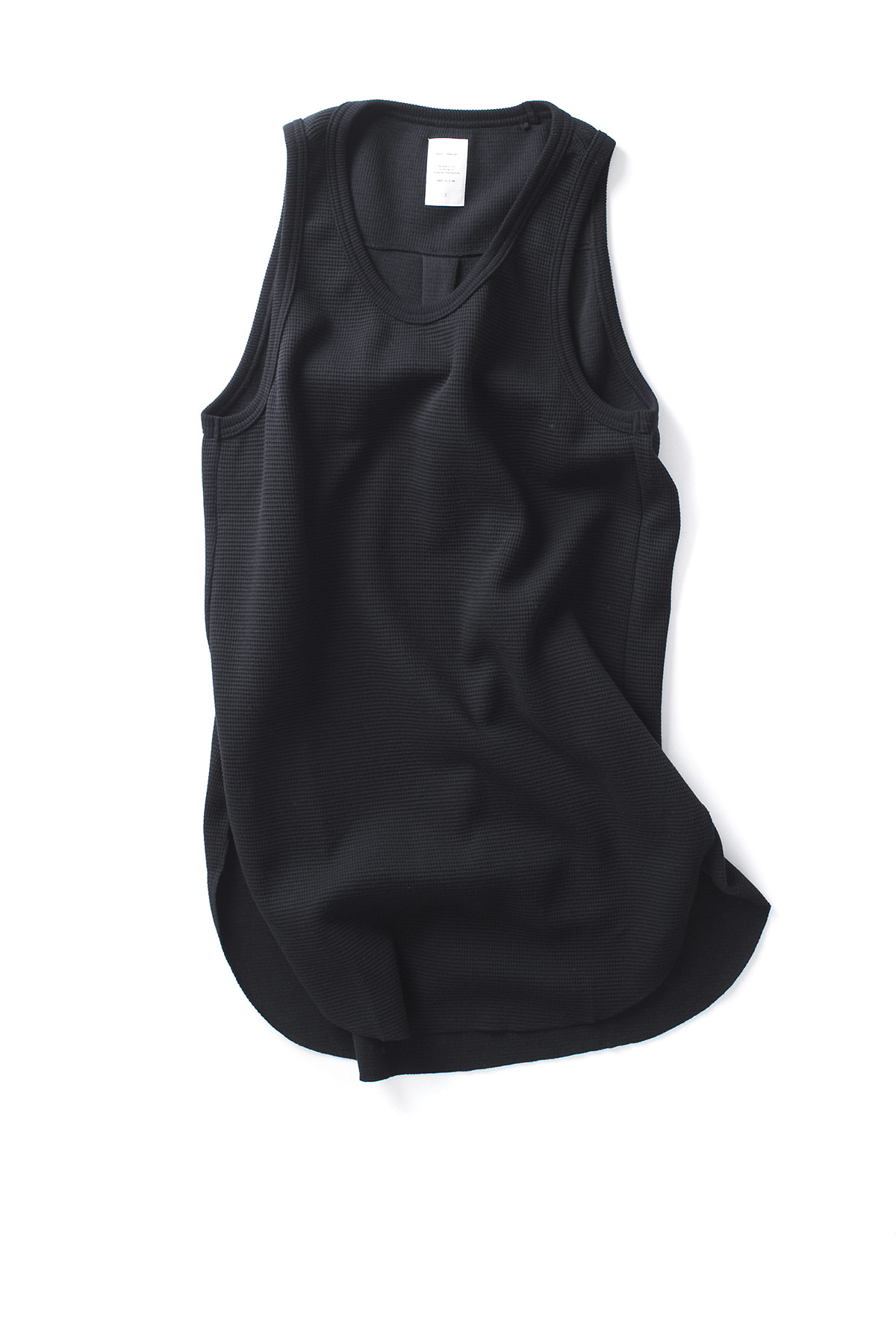 Name : Waffle Thermal Tank Top (Black)