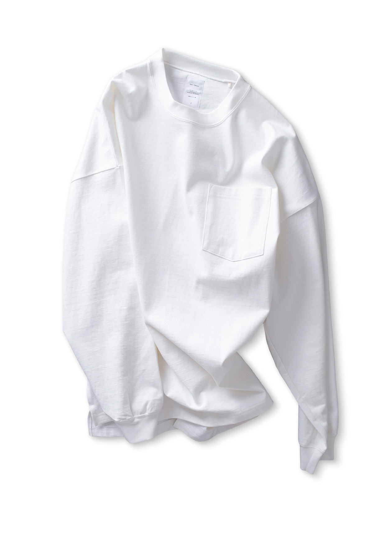 Name : Oversized L/S Pocket Tee (White)