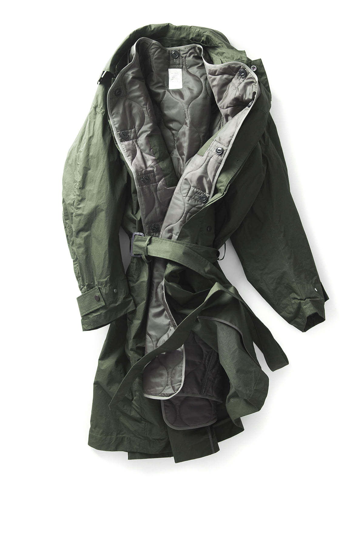 Name : C/T Coating Balmacaan Coat (Green)