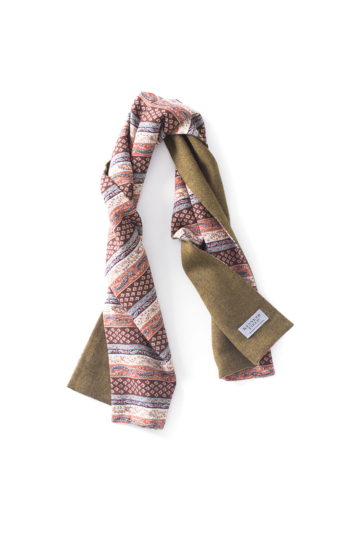 Kenneth Field : 2-Way Woven Scarf (Mustard)