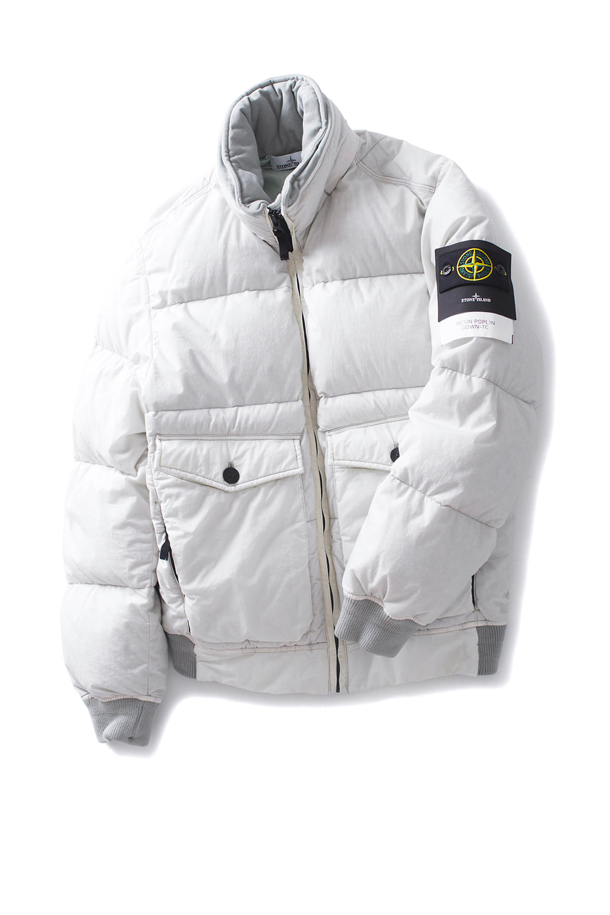 Stone Island : RESIN POPLIN DOWN-TC (White)