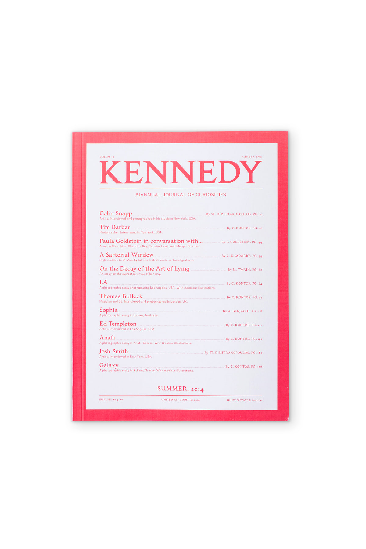 KENNEDY MAGAZINE : Vol. 1 No.2 Summer, 2014