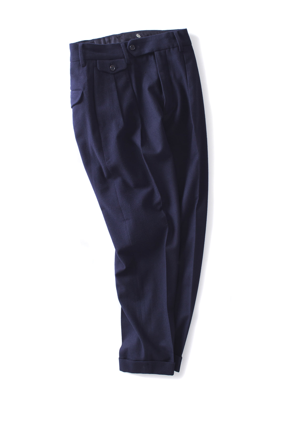 Kaptain Sunshine : Two Pleats Trousers (Navy)