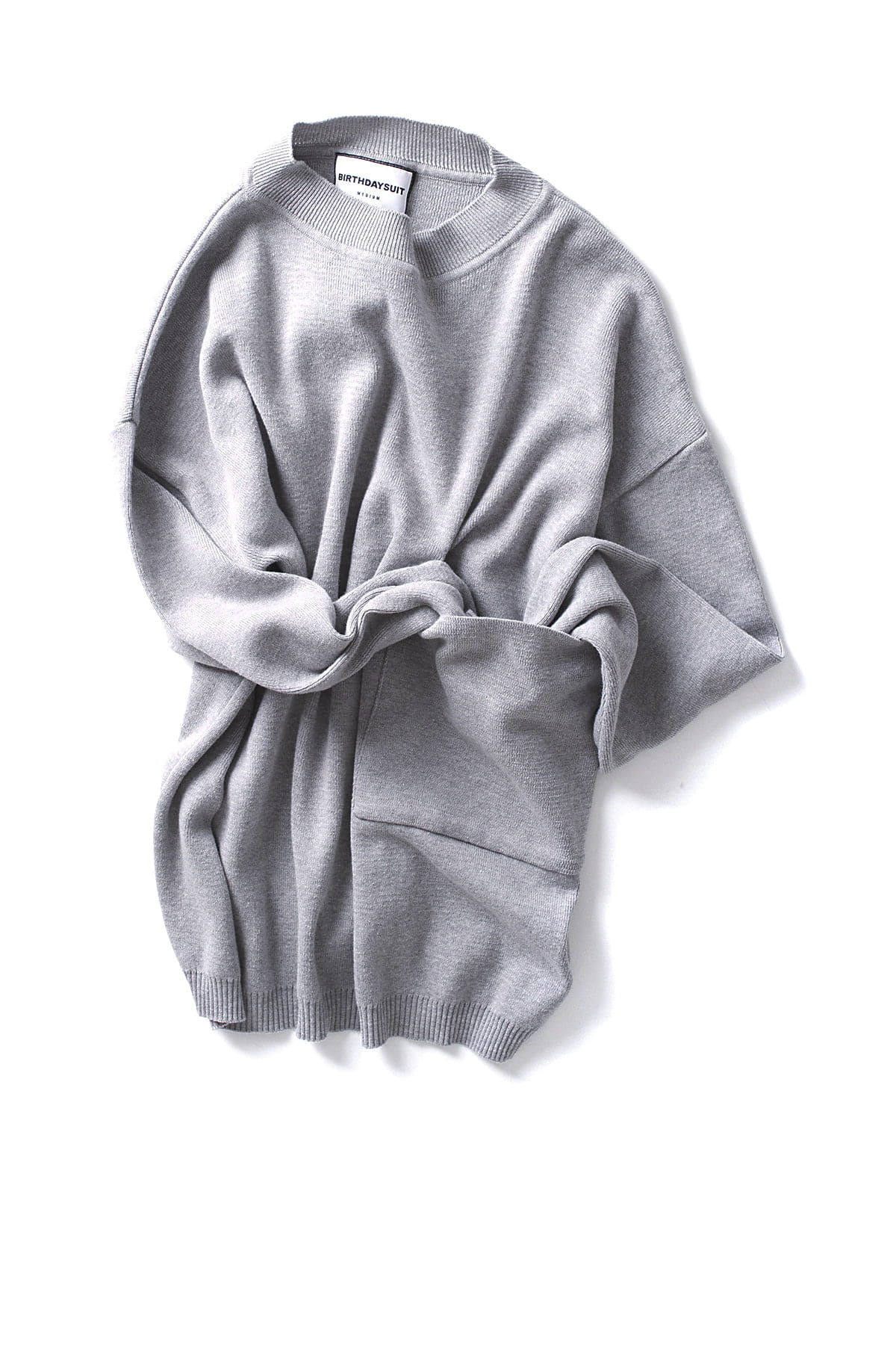 BIRTHDAYSUIT : Big Pocket Knit Pullover (Grey)