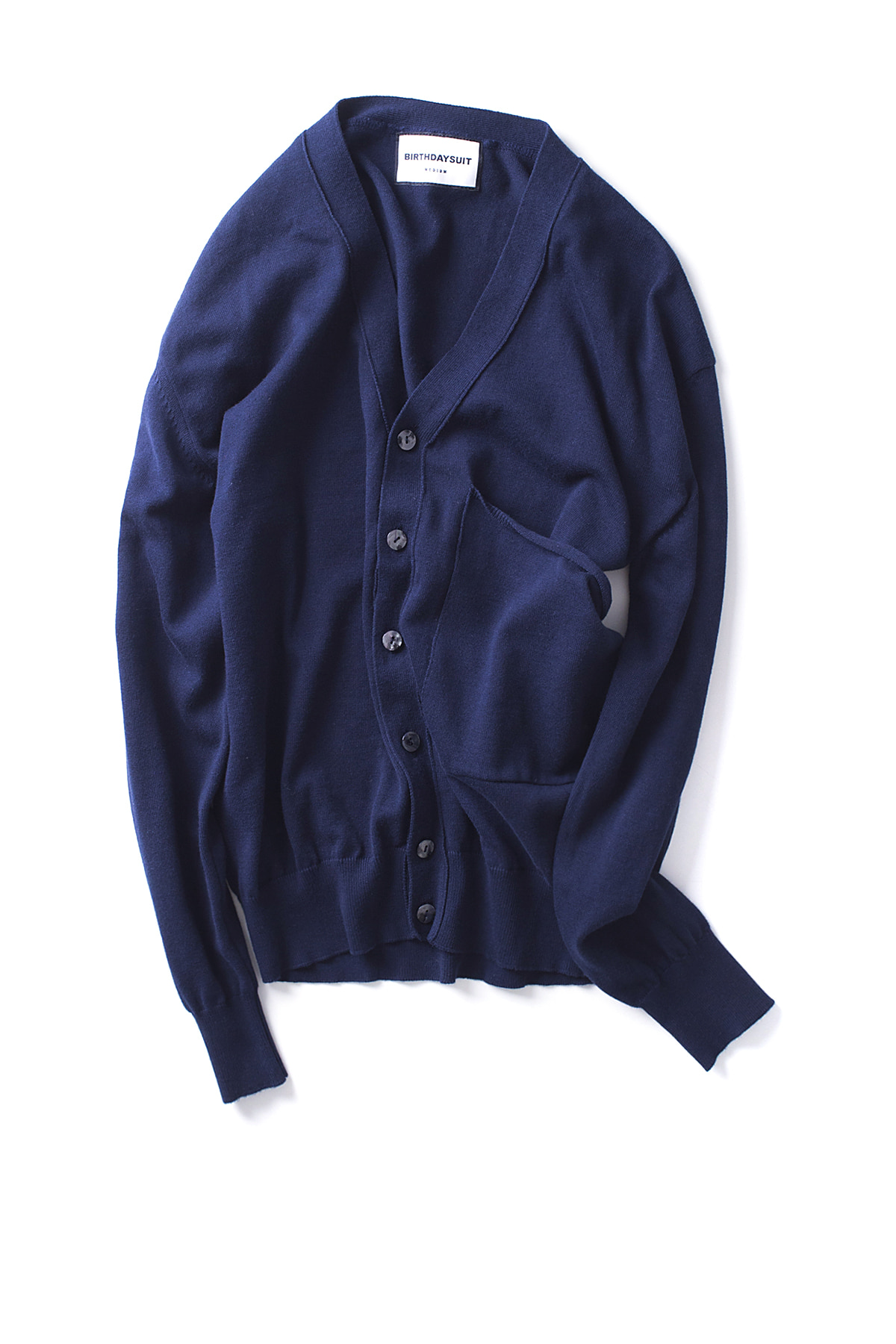 BIRTHDAYSUIT : Big Pocket knit Cardigan (Navy)