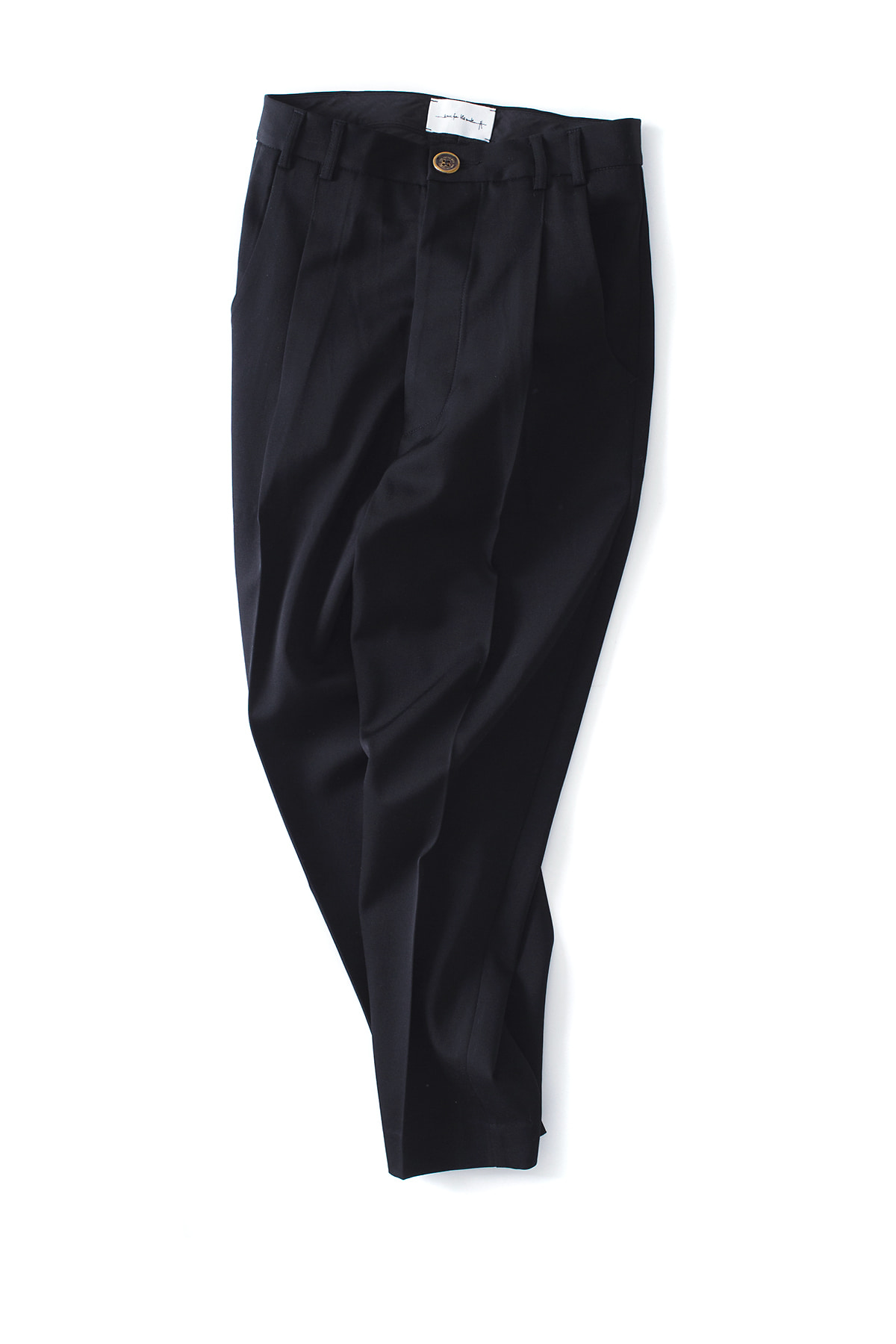 Song for the Mute : Pleated Tapered Pants (Black)