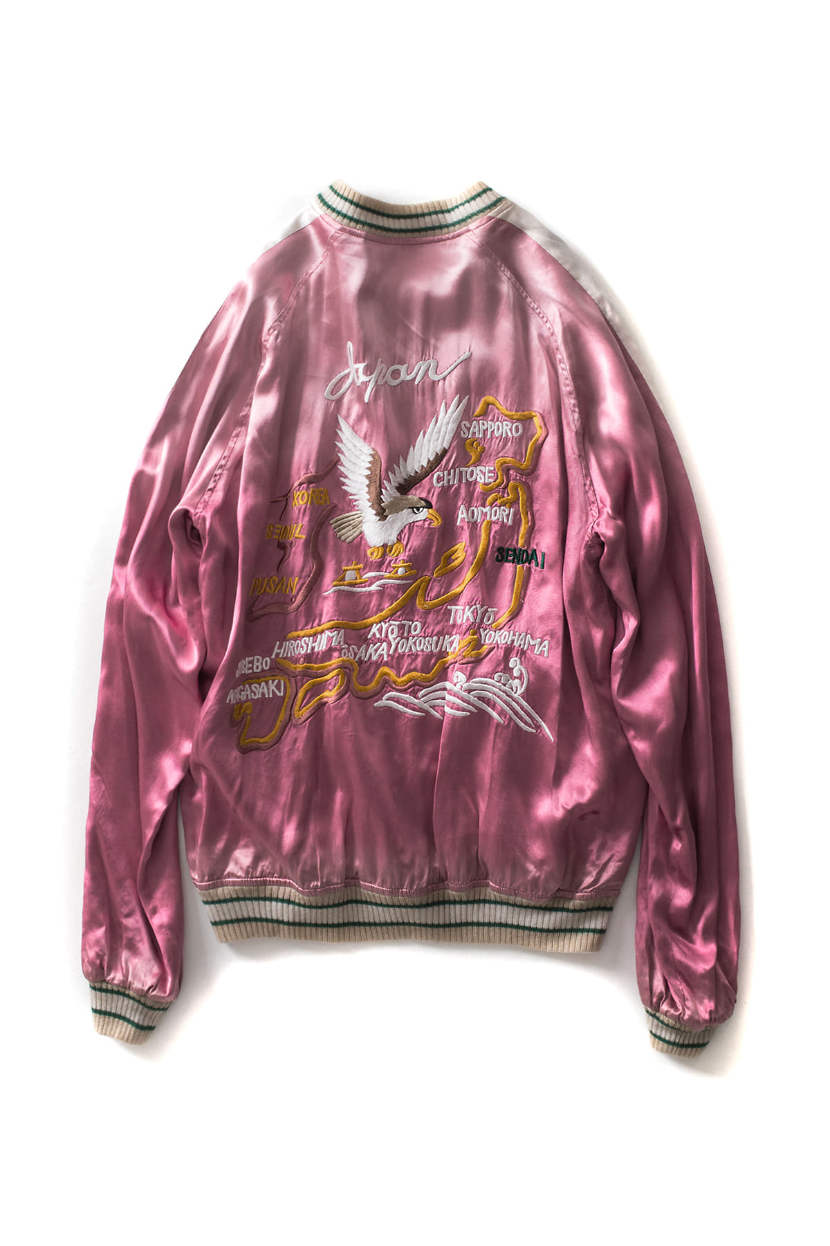 STAMMBAUM : Souvenir Jacket Japan (Pink x Off White)