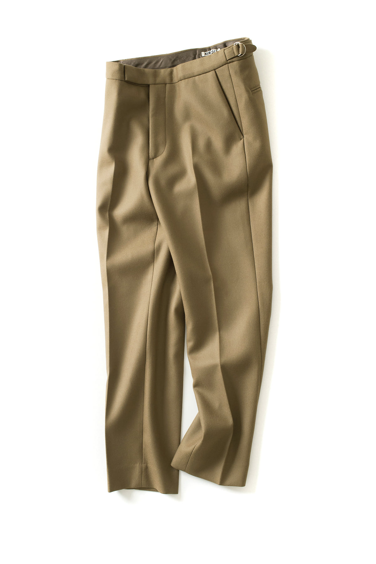 Auralee : Light Melton Slacks (Khaki)
