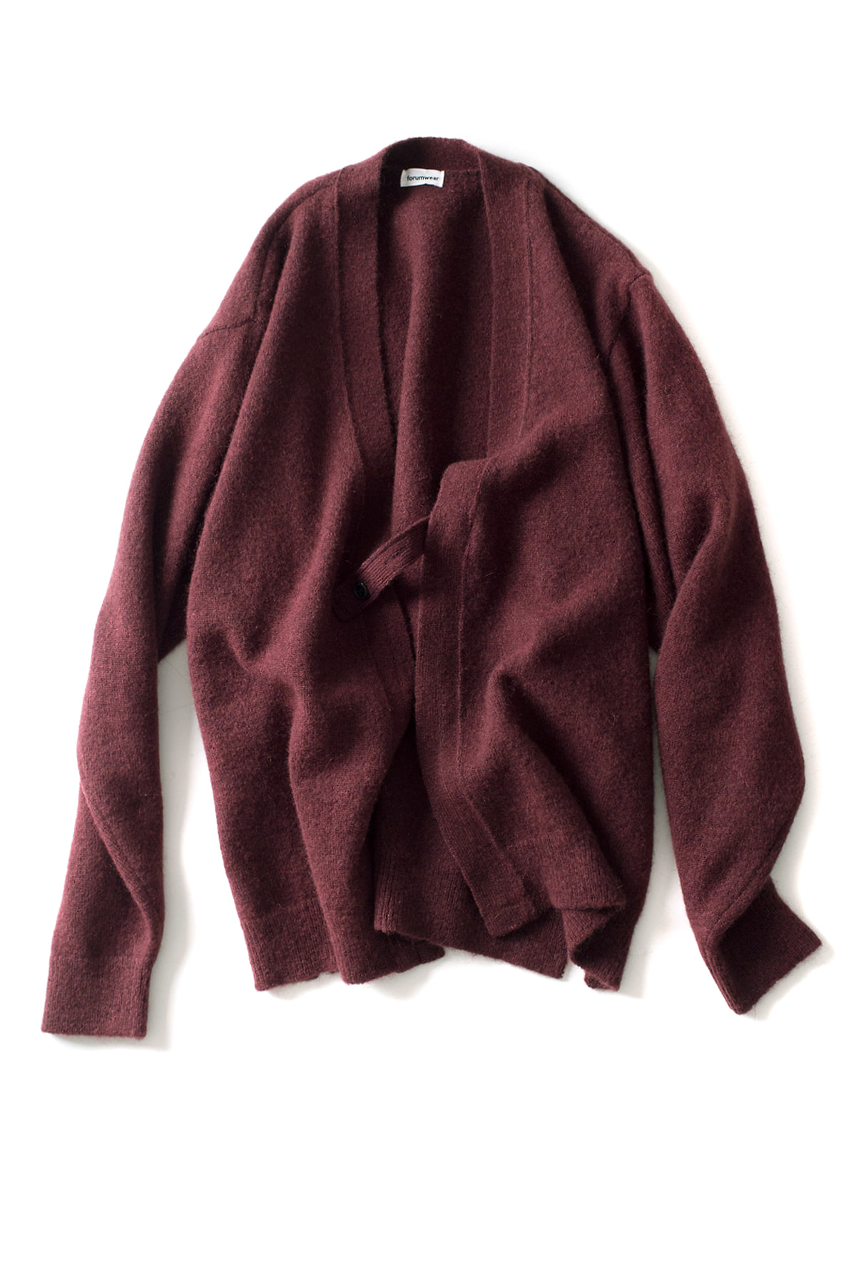 forumwear : Mohair Holder Loop Cardigan (Burgundy)
