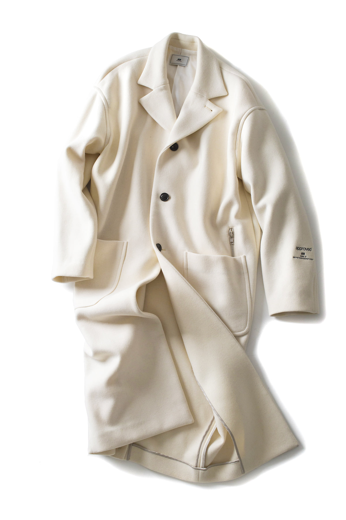 soe : Wool 3B Tall Coat (Off White)