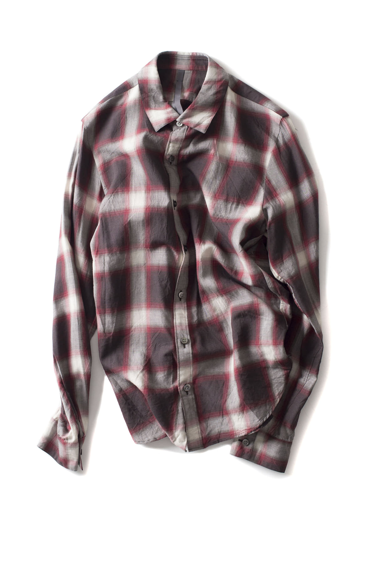 ATTACHMENT / KAZUYUKI KUMAGAI : Viera Check Shirt (Red)