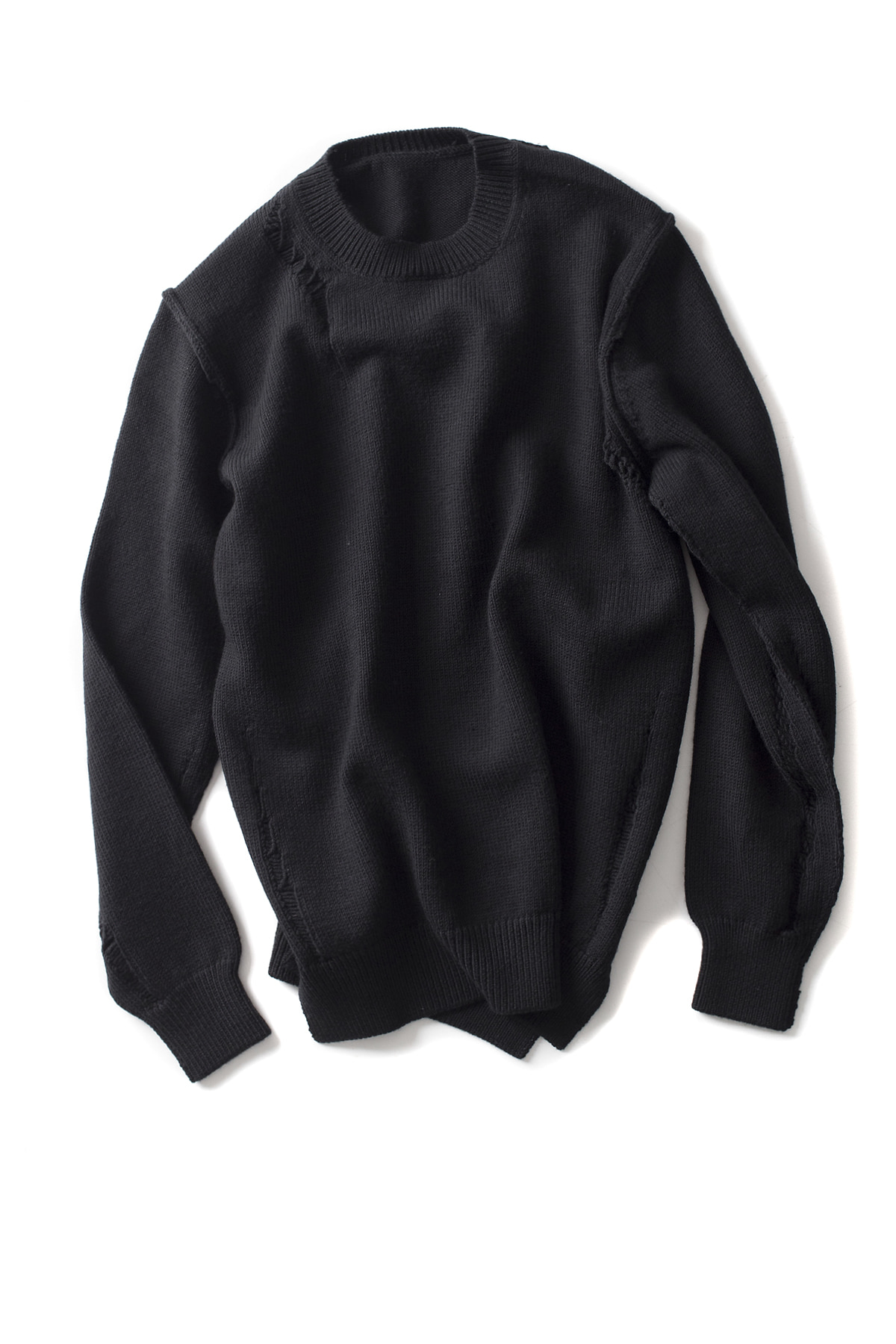 ATTACHMENT / KAZYUKI KUMAGAI : Wool Cord Crewneck Pullover (Black)
