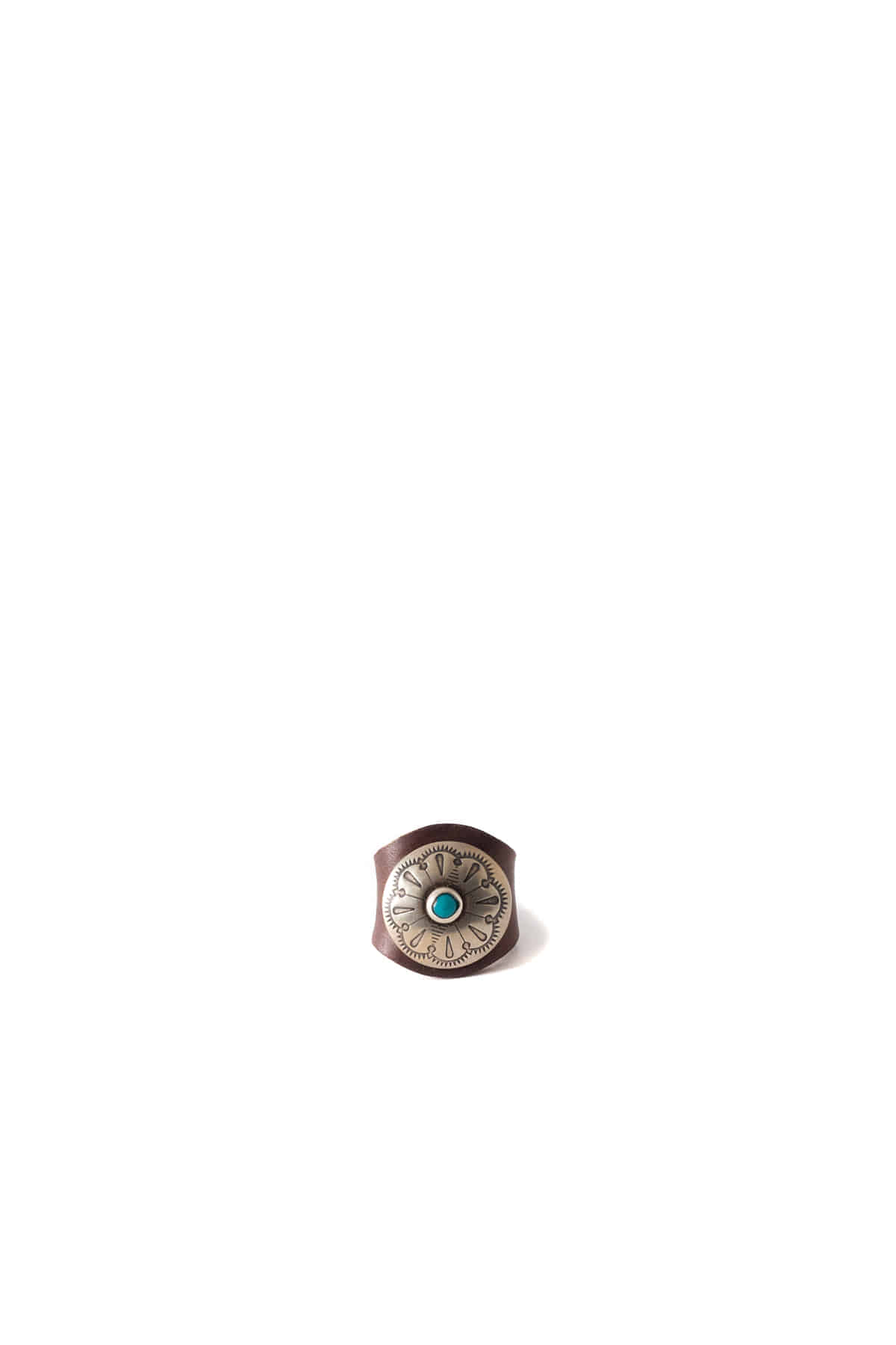 Yuketen : Leather Ring W/Concho (Brown)