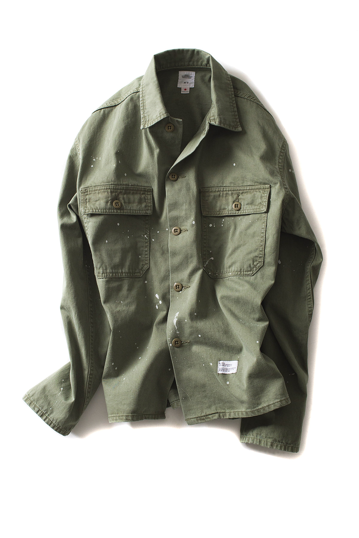 "Bedwin & The Heartbreakers : L/S Military Shirt Jacket ""CLIFF"" (Olive)"