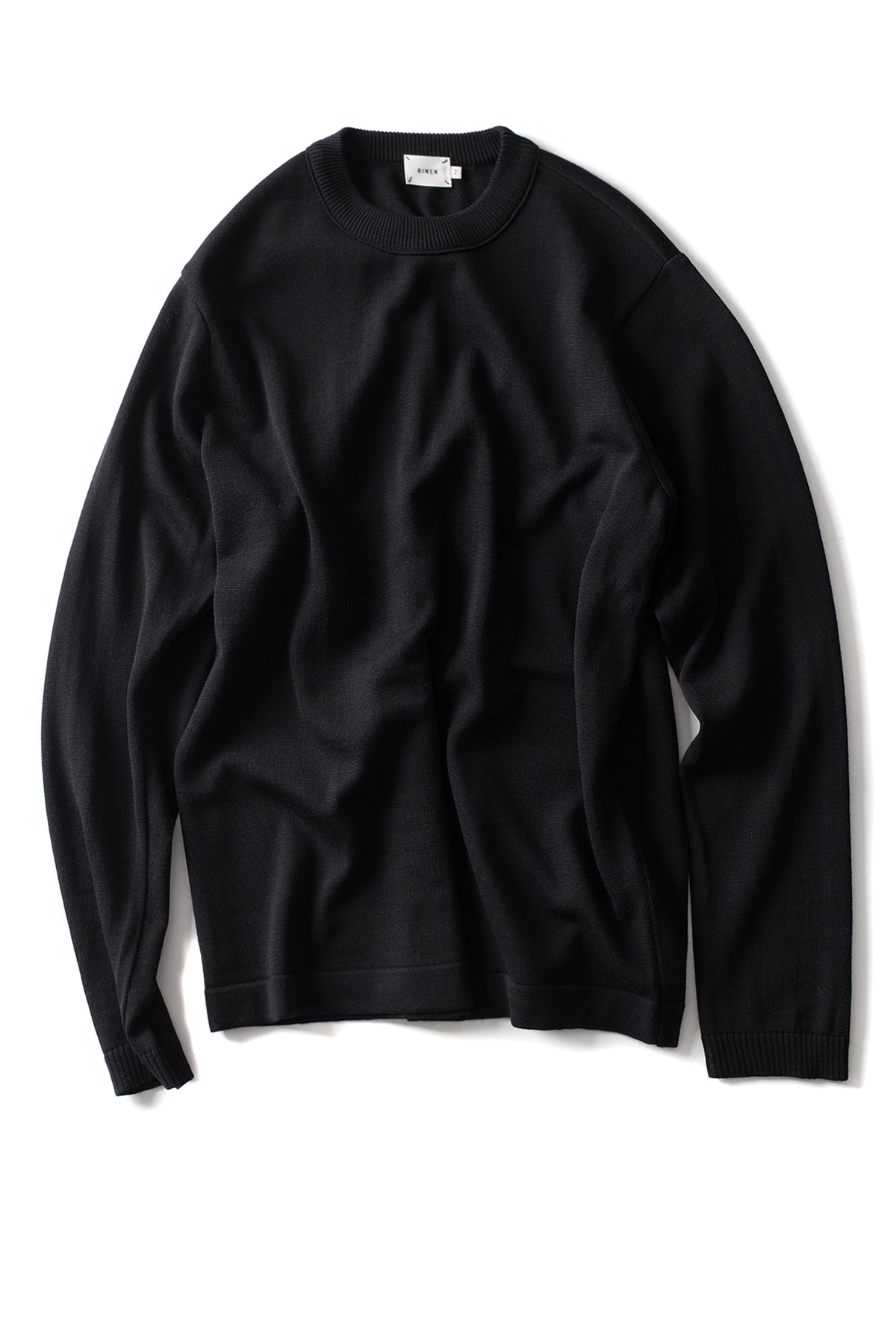 RINEN : Wool Crewneck (Black)