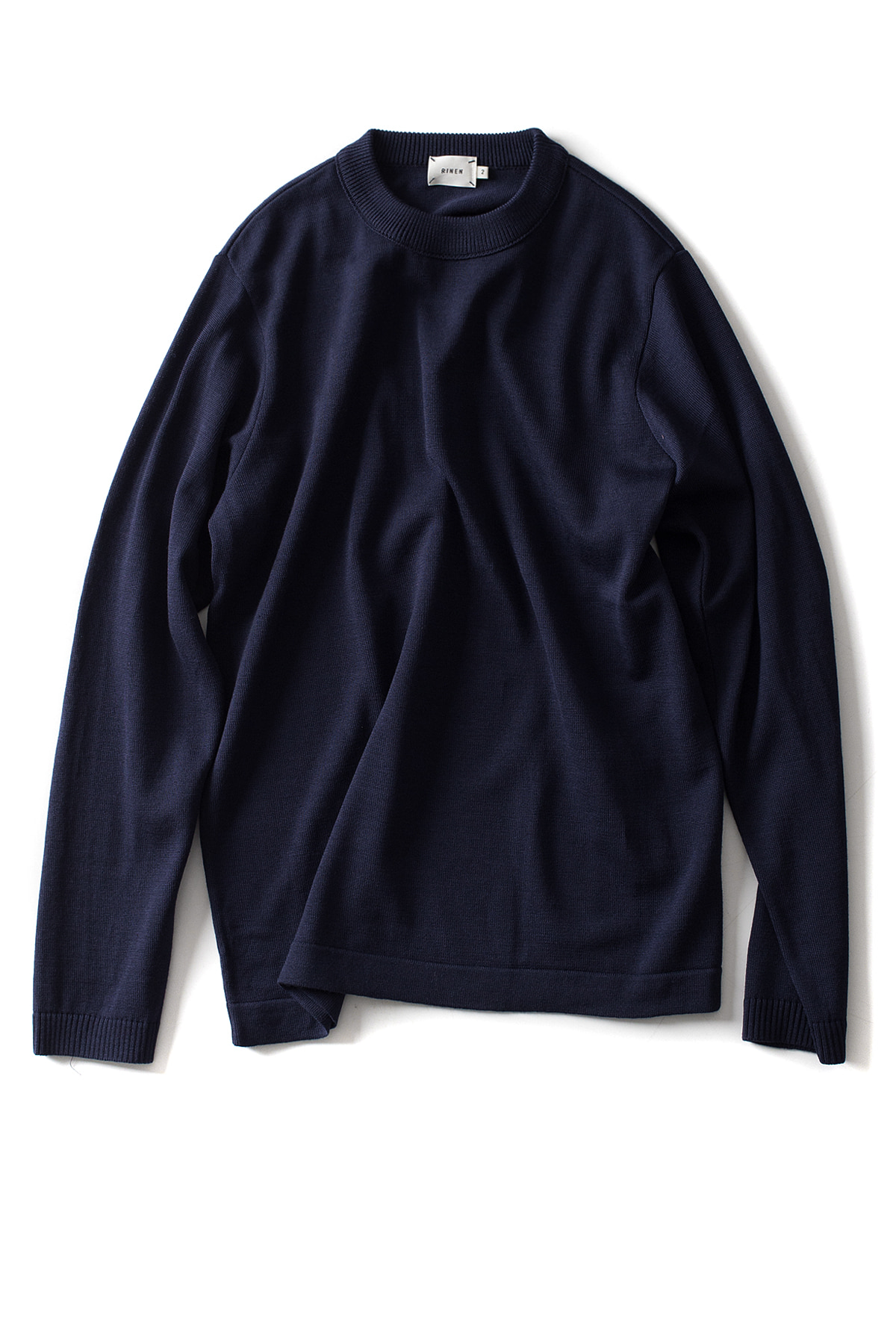 RINEN : Wool Crewneck (Navy)