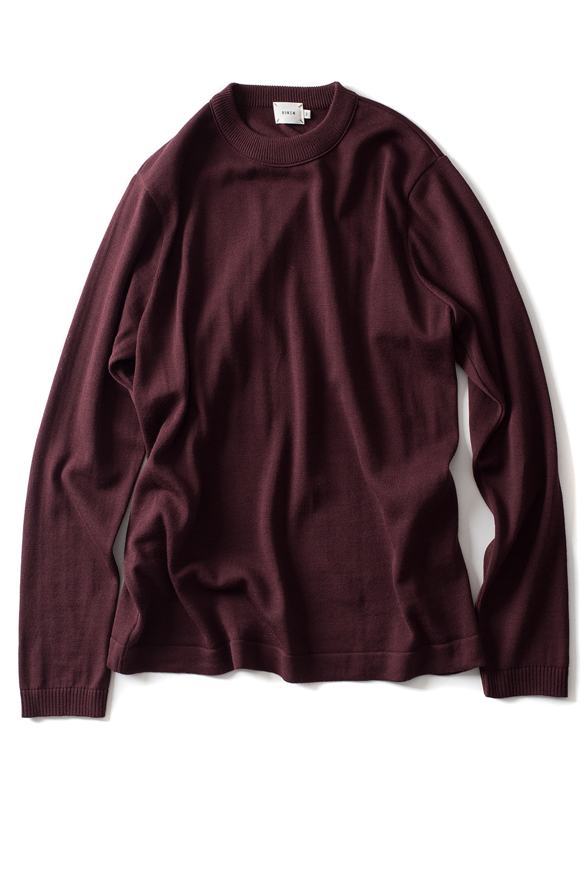 RINEN : Wool Crewneck (Wine)