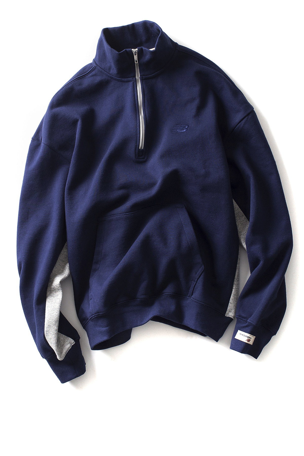New Balance : UNI CLASSIC HALF ZIP UP MTM (Navy)