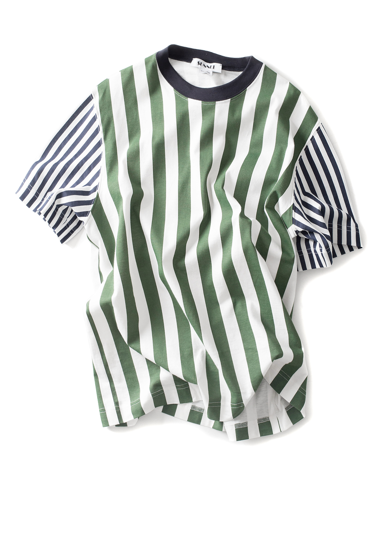 SUNNEI : Stripe T-Shirt (Green)