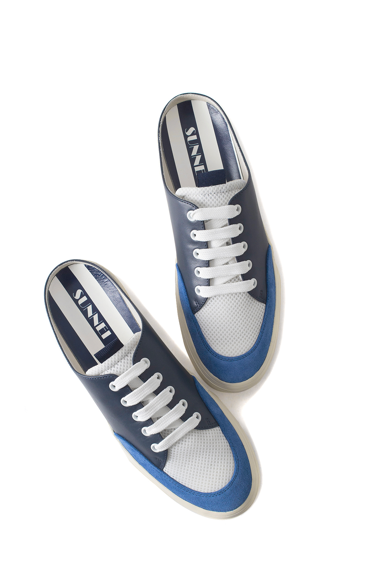 SUNNEI : Open Back Sneakers (Blue)
