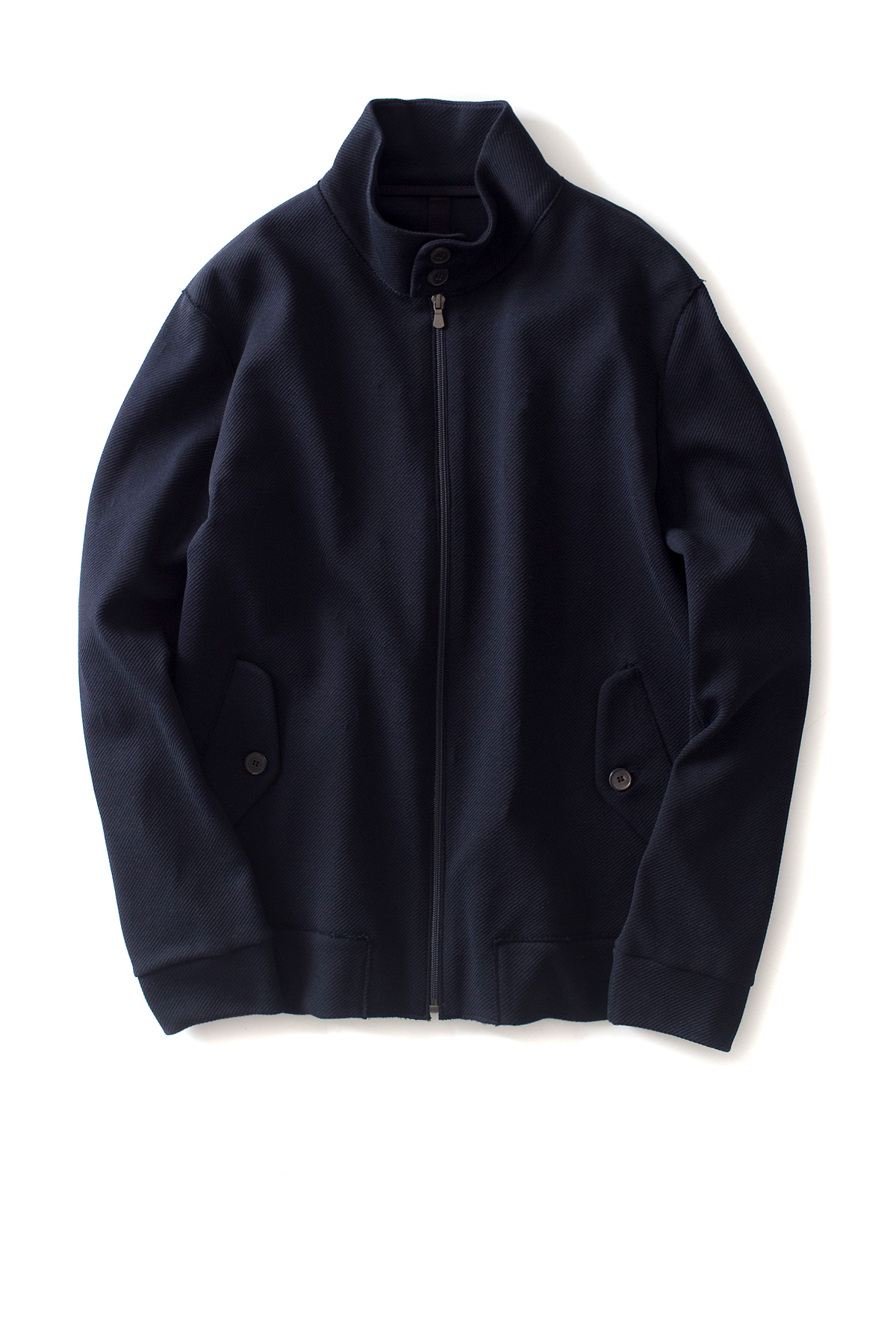 Harris Wharf London : Men Harrington Jacket Cavalry Twill (Dark Blue)