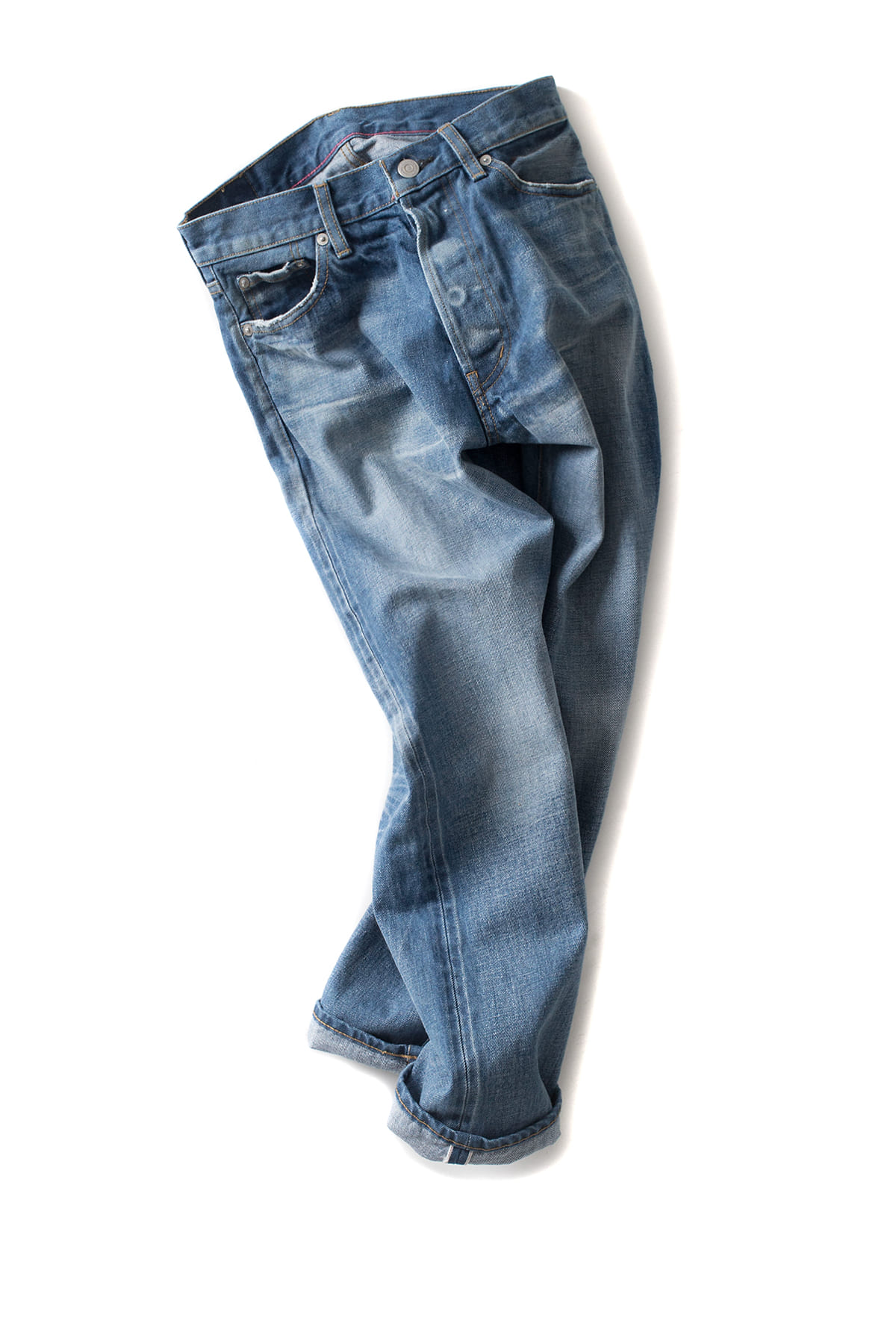 ordinary fits : 5pocket Ankle Denim Used Wash (3year)