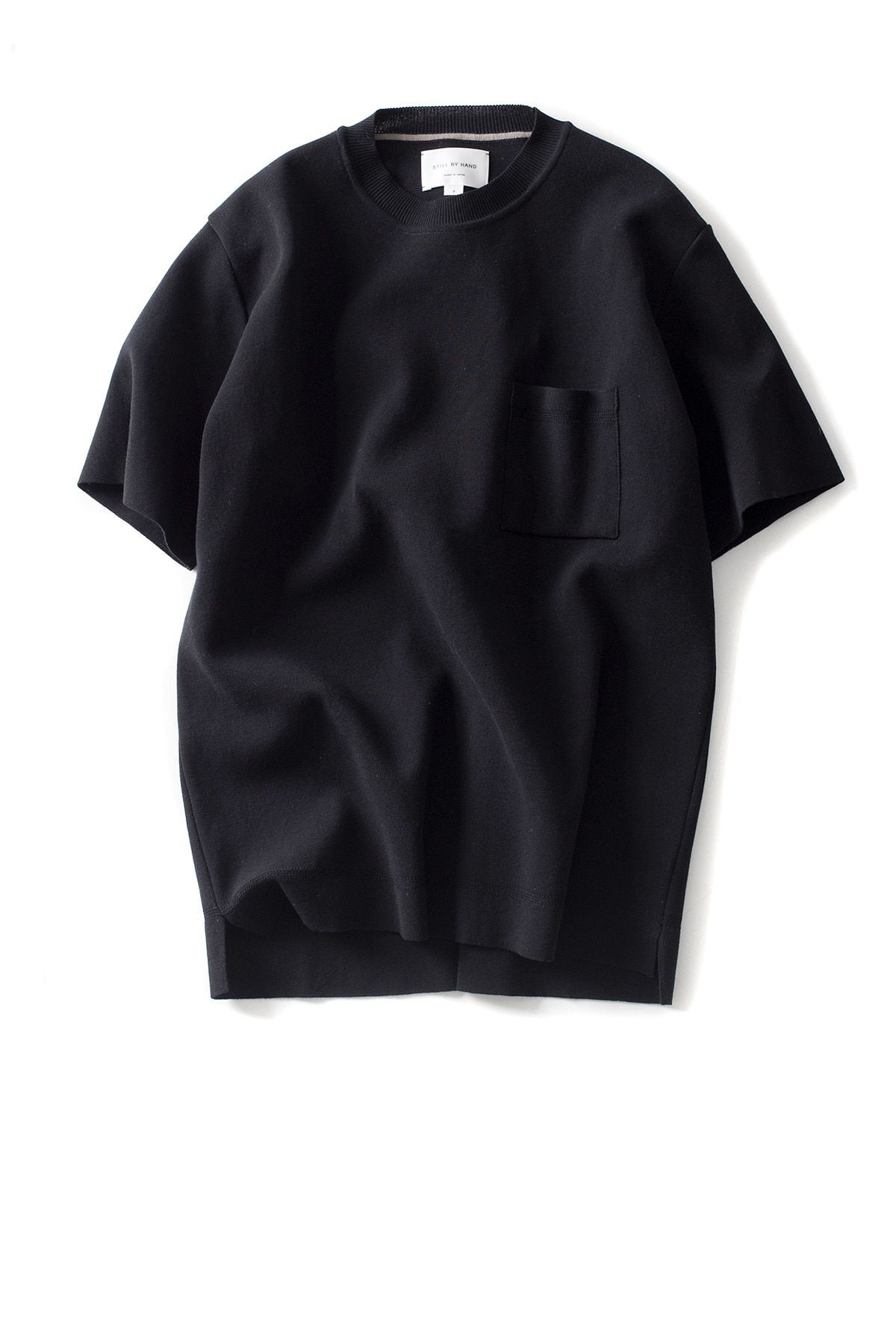 Still by Hand : Milano Rib T-Shirt (Black)