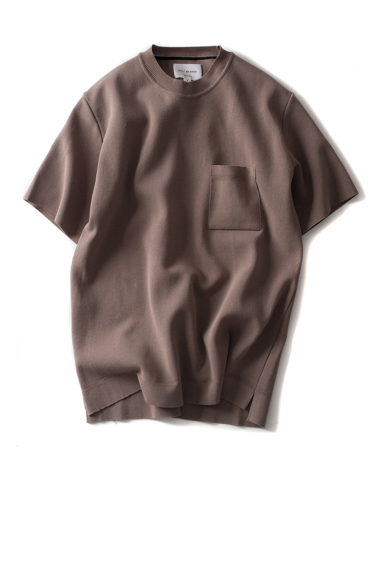 Still by Hand : Milano Rib T-Shirt (Brown)