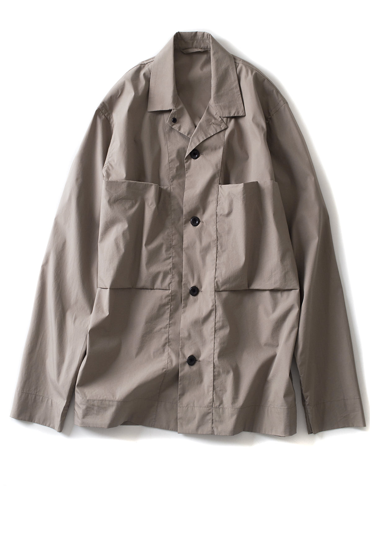 Still by Hand : C/PE Shirt Jacket (Beige)