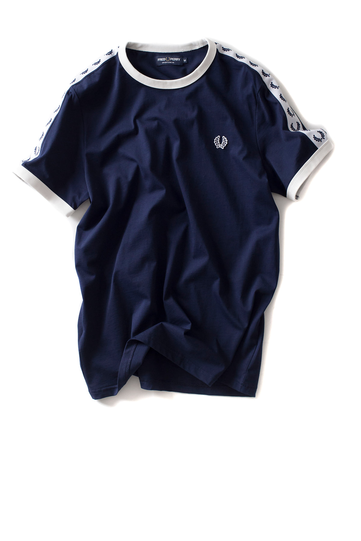 FRED PERRY : Taped Ringer T-Shirt (Carbon Blue)