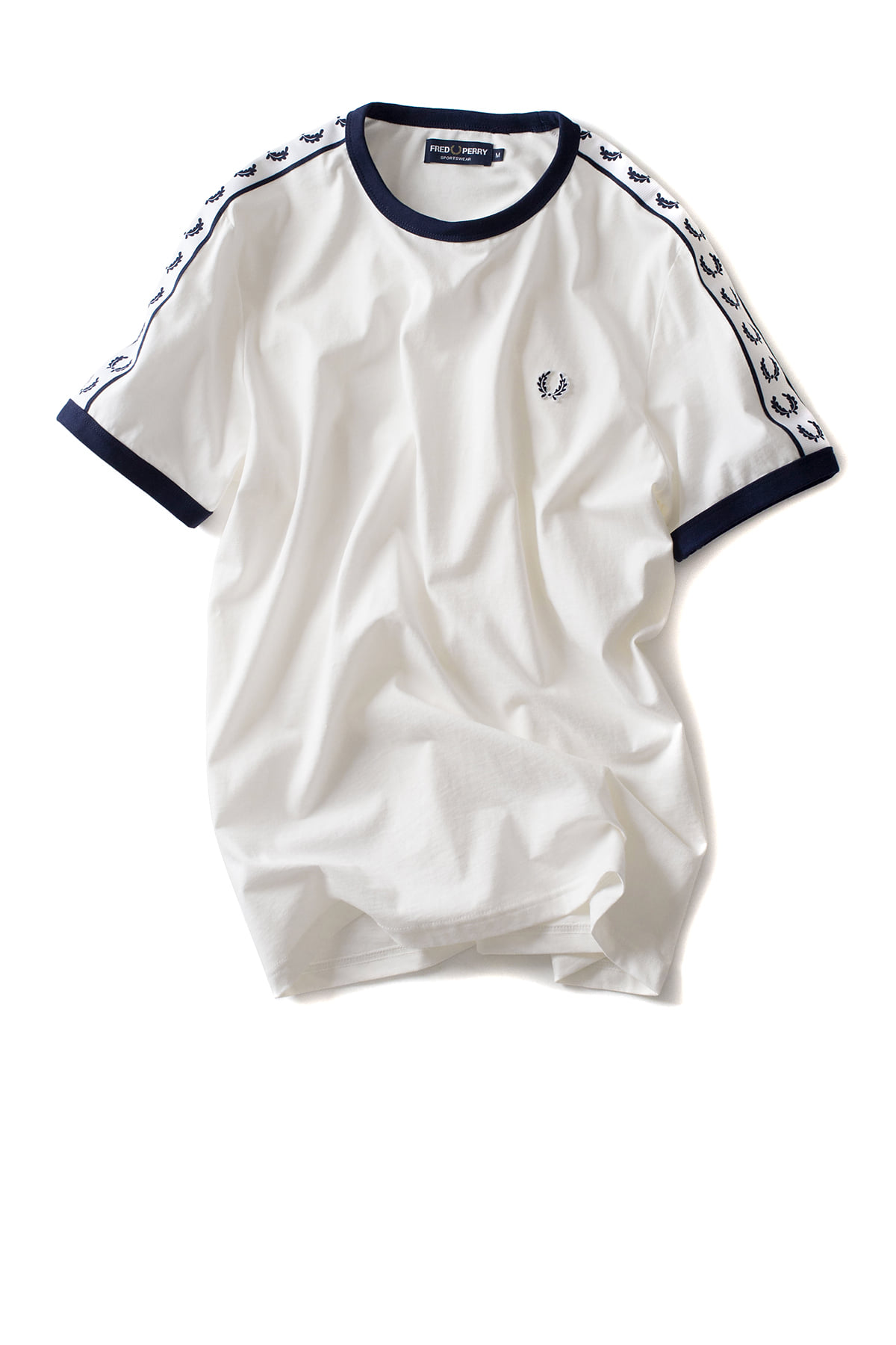 FRED PERRY : Taped Ringer T-Shirt (Snow White)