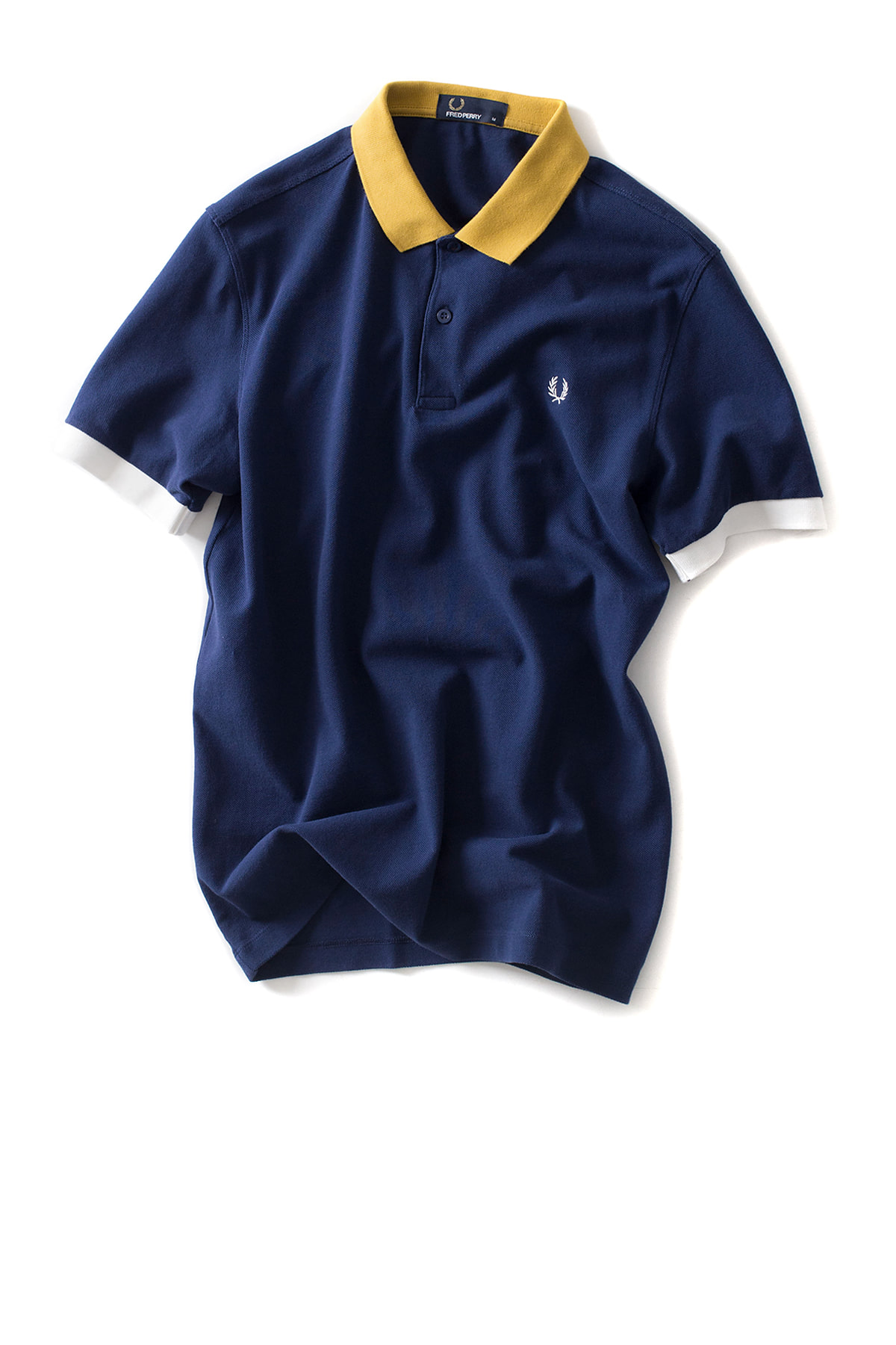 FRED PERRY : Colour Block Pique Shirt (French Navy)