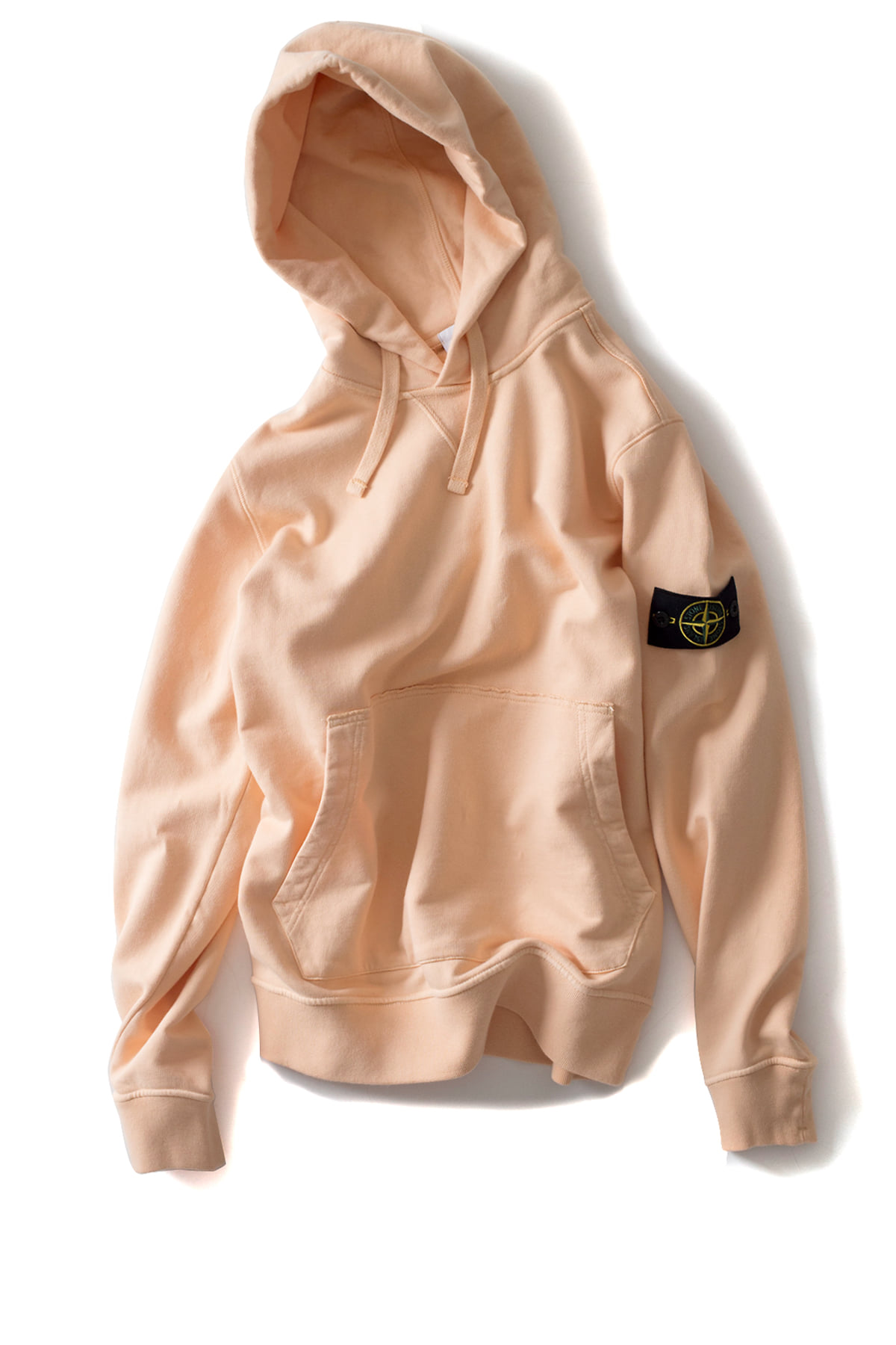 Stone Island : GARMENT DYED POPOVER HOODY (Salmon Pink)