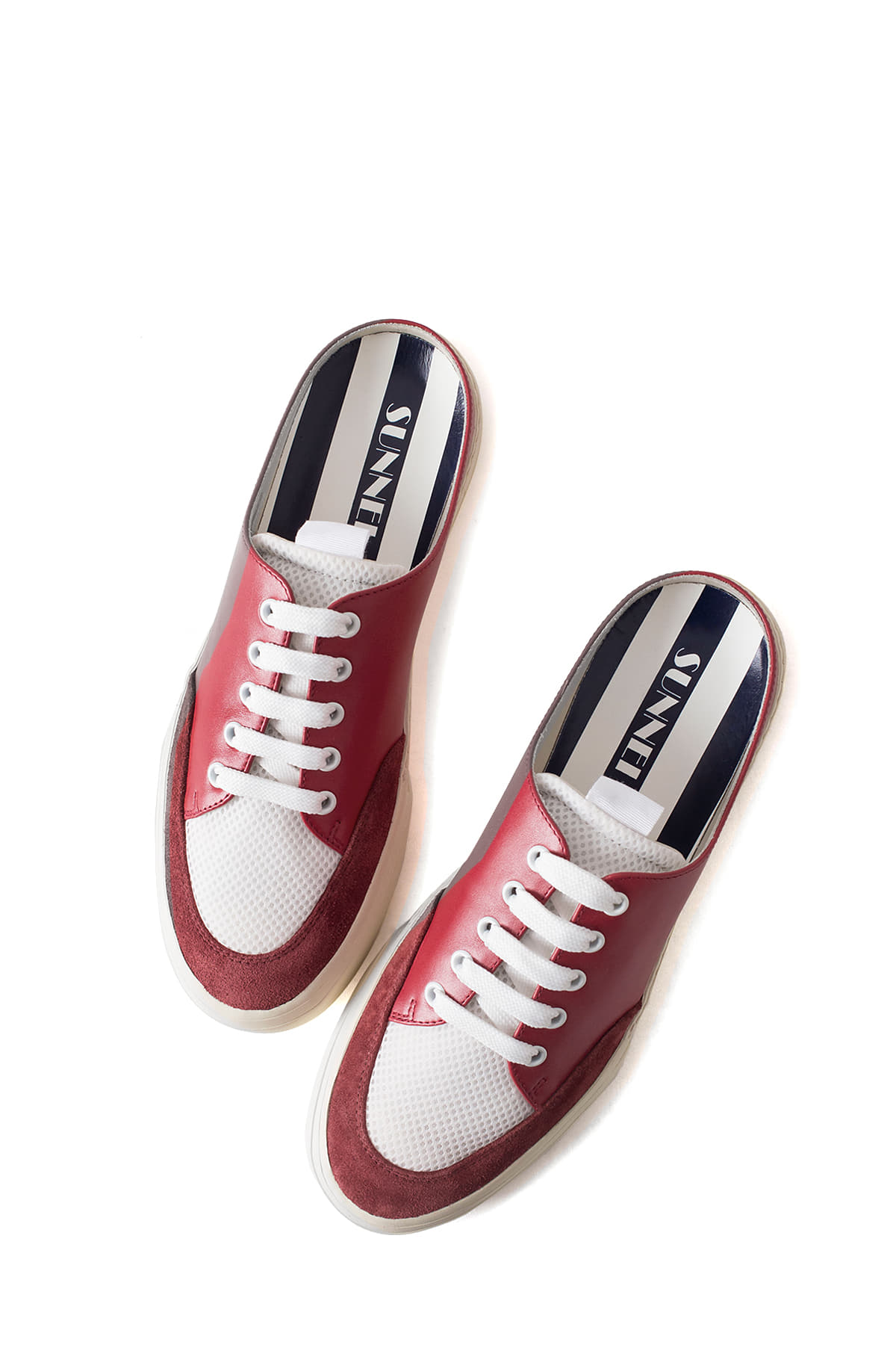 SUNNEI : Open Back Sneakers (Red)