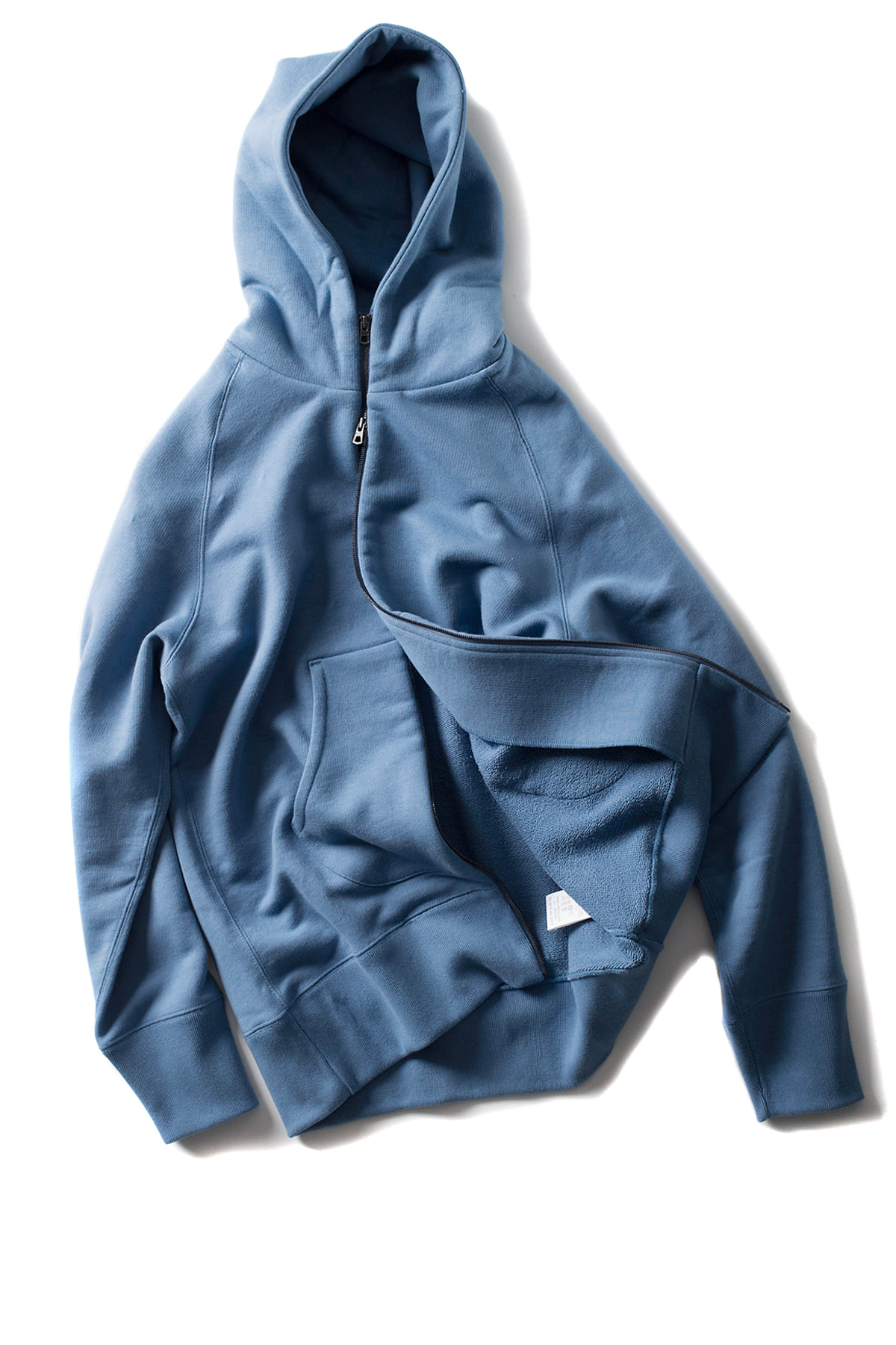 Curly : Bright Zip Parka (Light Blue)