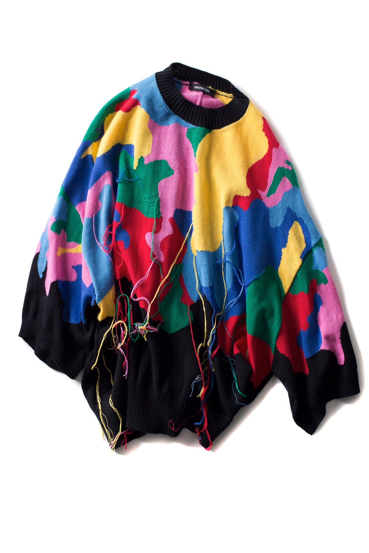Christian Dada : Multicolored Liquidated Sweater