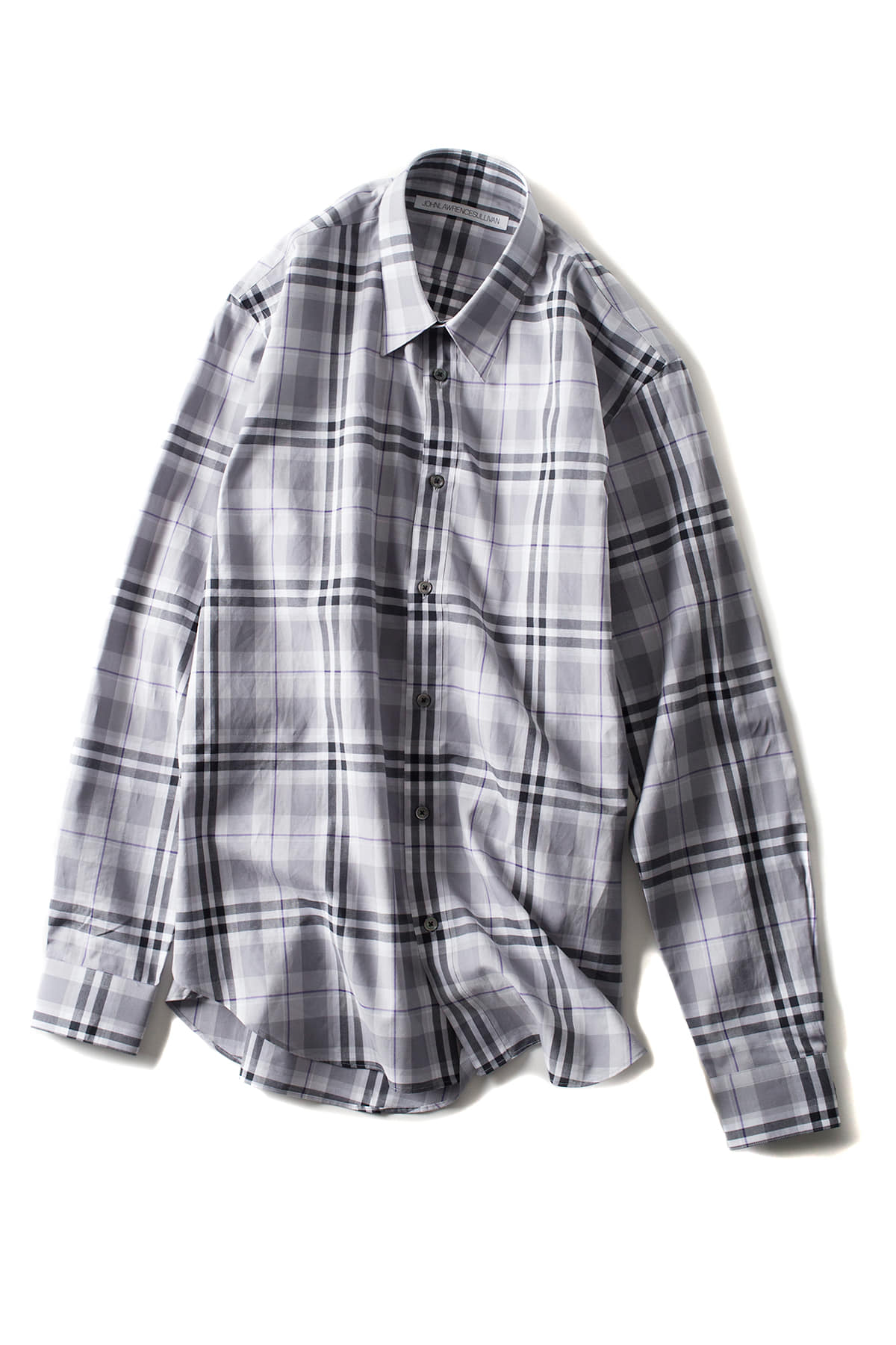 JOHN LAWRENCE SULLIVAN : Check Shirt (Grey)