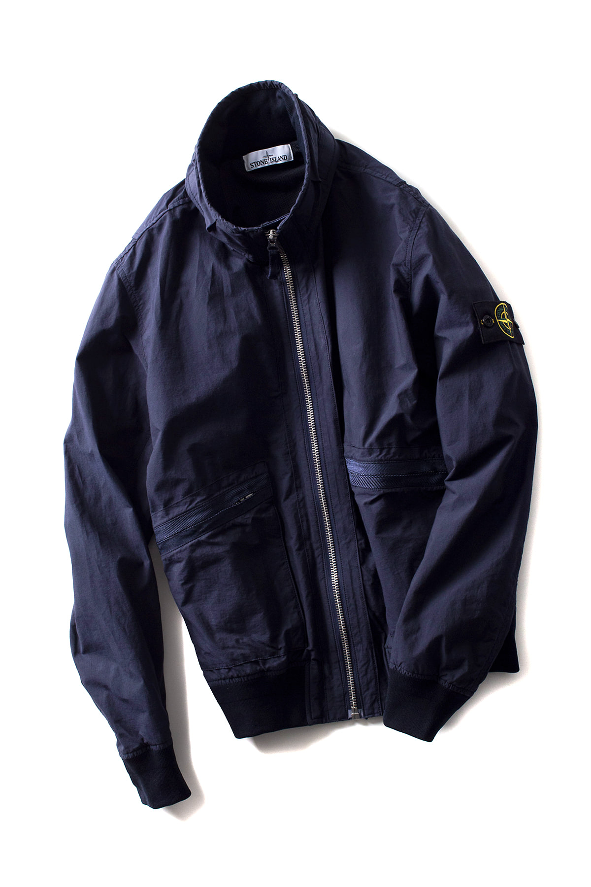 Stone Island : LIGHT COTTON NYLON TWILL BLOUSON (Dark Blue)