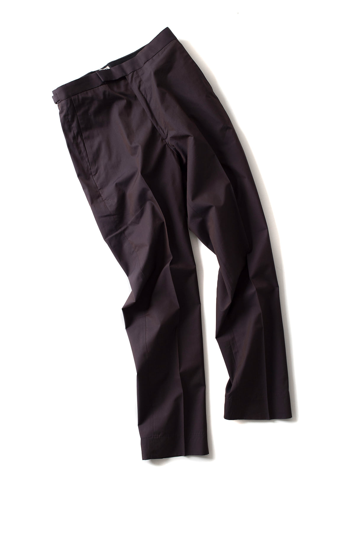 Auralee : Finx Silk Chambray Slacks (Brown)