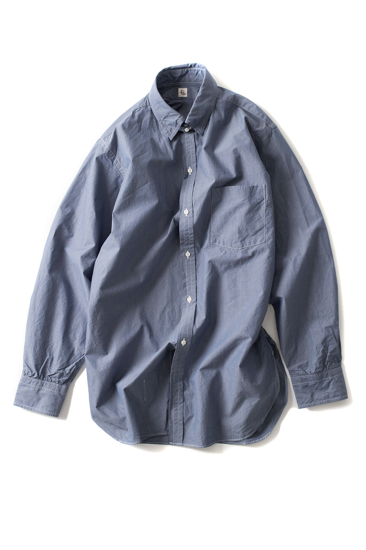 Kaptain Sunshine : Tab Collar Shirt (Blue)