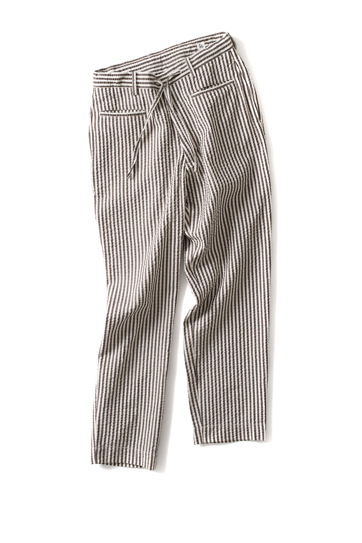 Kaptain Sunshine : Traveller Trousers  (Brown / Ivory)